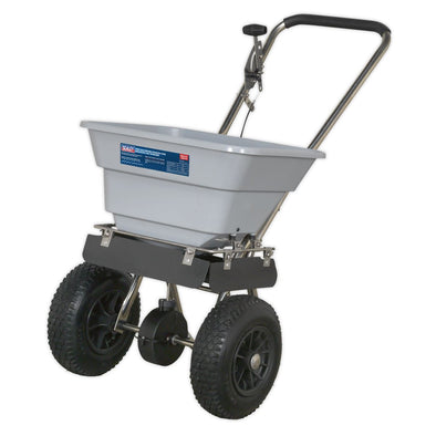 Sealey Stainless Steel Broadcast Salt Spreader 37kg Walk Behind