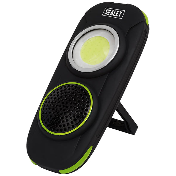 Sealey Rechargeable Torch with Wireless Speaker 10W COB LED 500 Lumens