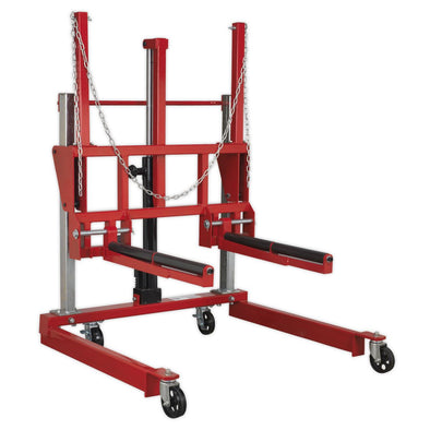 Sealey Wheel Removal Trolley 500kg Adjustable Width