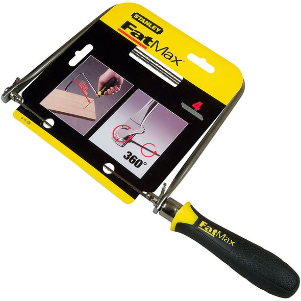 Stanley FatMax Coping Saw 165mm 14TPI Soft Grip Handle Joinery Woodwork