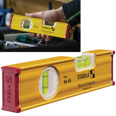 Stabila Spirit Level 20cm 2 Vial 80 AS 19565
