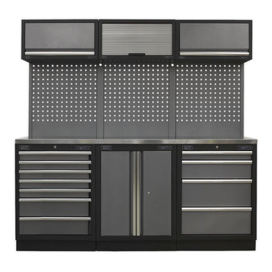 Sealey Superline Pro Modular Storage System Combo - Stainless Steel Worktop