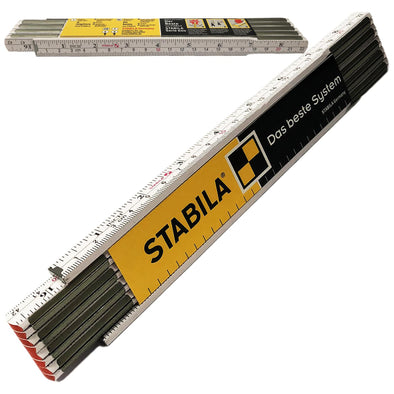 "Stabila 2m (78"") Wooden Folding Rule Metric and Imperial"