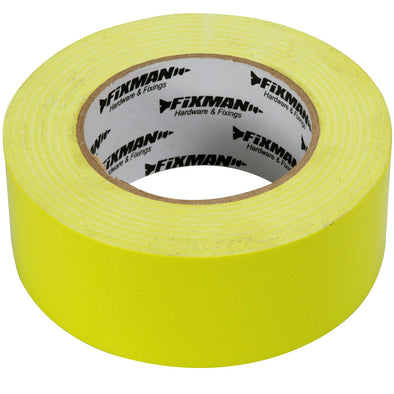 Fixman 50mm x 50m Hi-Vis Heavy Duty Duct Tape Hi-Vis Adhesive