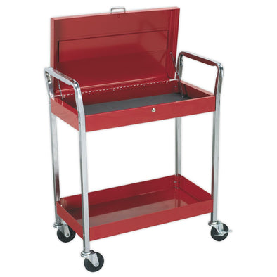 Sealey Superline Pro Trolley 2-Level Heavy-Duty with Lockable Top