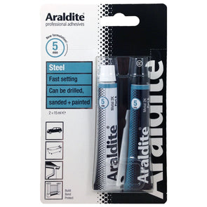 Araldite 2 x 15ml Steel Fast Setting Strong Epoxy 2 Part Glue