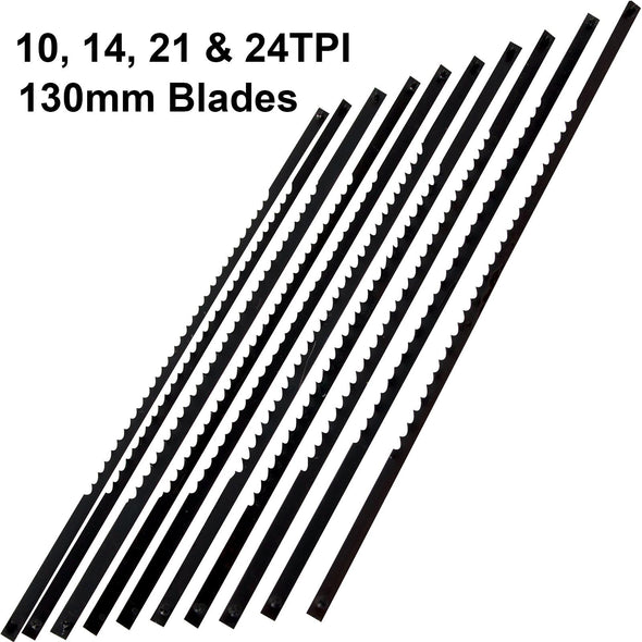 Silverline 10 Pack 130mm Scroll Saw Blades