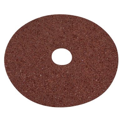 Worksafe by Sealey Fibre Backed Disc Ø125mm - 16Grit Pack of 25