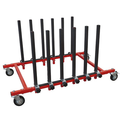 Sealey Panel Storage Rack Mobile Holds 5 Panels