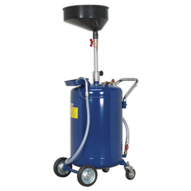 Sealey Mobile Oil Drainer 110L Air Discharge
