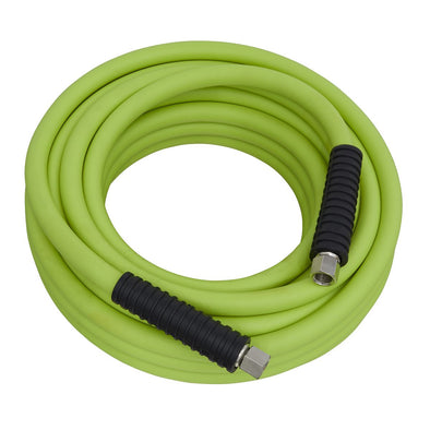 "Sealey Air Hose 10m x Ø8mm Hybrid High Visibility with 1/4""BSP Unions"