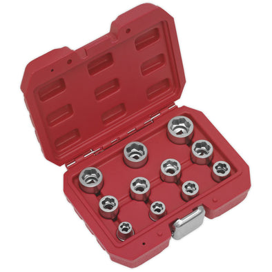 "Sealey Premier Bolt Extractor Socket Set 11pc 3/8""Sq Drive Metric"