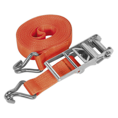 Sealey Ratchet Tie Down 75mm x 10m Polyester Webbing 10000kg Load Test