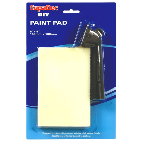 SupaDec DIY 150mm x 100mm Paint Pad with Handle