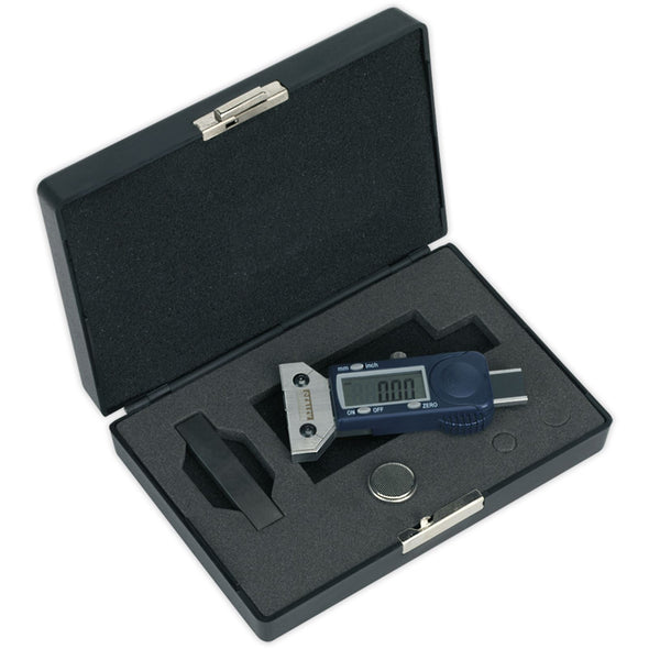 Sealey Calibrated Digital Tyre Tread Depth Gauge VOSA Approved MOT Testing