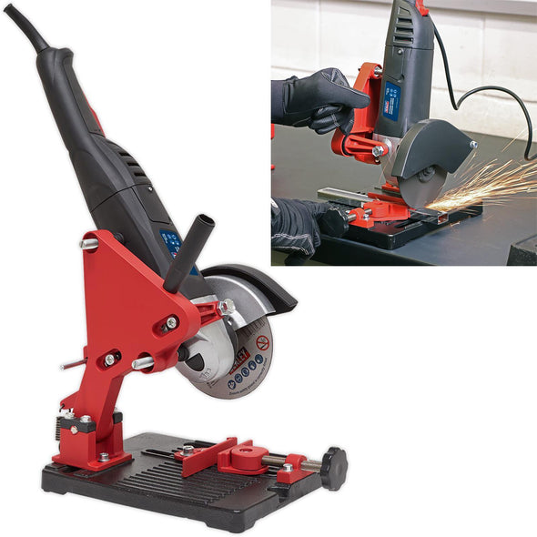 Sealey Angle Grinder Stand With Cast Iron Base Vertical Cutter 100mm 115mm 125mm