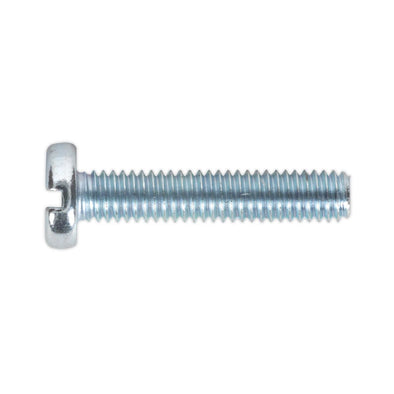 Sealey Machine Screw M4 x 20mm Pan Head Slotted Zinc Pack of 50
