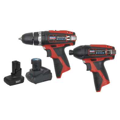 Sealey SV12 Series 2 x 12V Cordless Power Tool Combo Kit