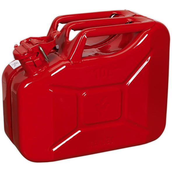 Sealey Jerry Can 10L Red Fuel Tank