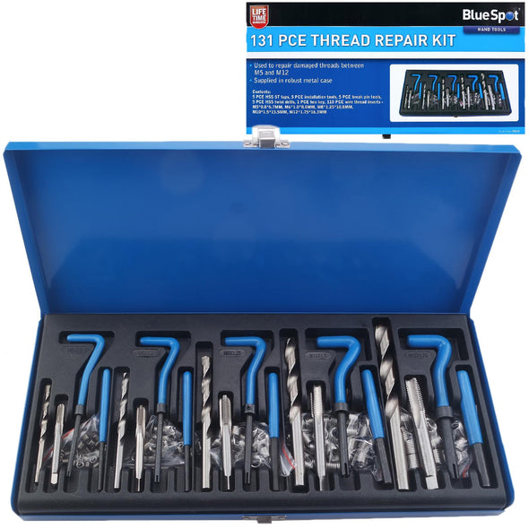 BlueSpot Thread Repair Kit 131 Piece M5-M12