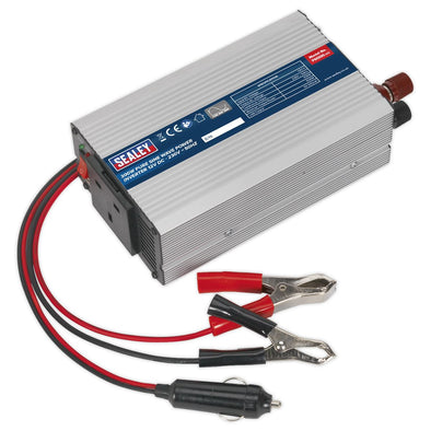 Sealey Power Inverter Pure Sine Wave 300W 12V DC - 230V 50Hz
