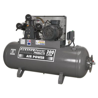 Sealey Premier Compressor 200L Belt Drive 5.5hp 3ph