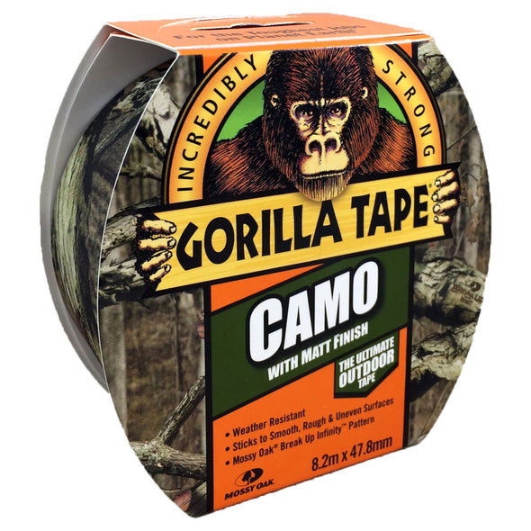 Gorilla 47.8mm x 8.2m Camo Duct Tape with Matt Finish