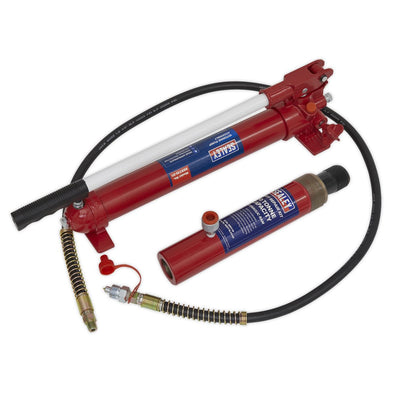 Sealey Push Ram with Pump & Hose Assembly - 10tonne