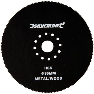 Silverline 80mm Multi-Cutter Circular Cutting Blade Wood Plasterboard