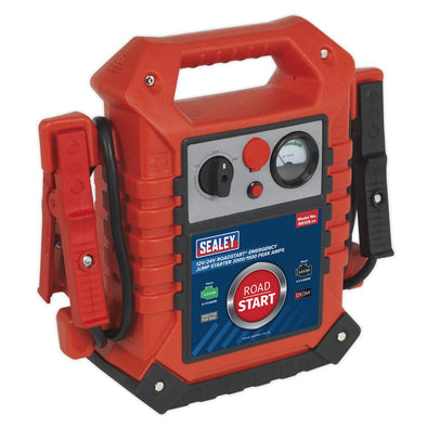 Sealey RoadStart® Emergency Jump Starter 12/24V 3000/1500 Peak Amps