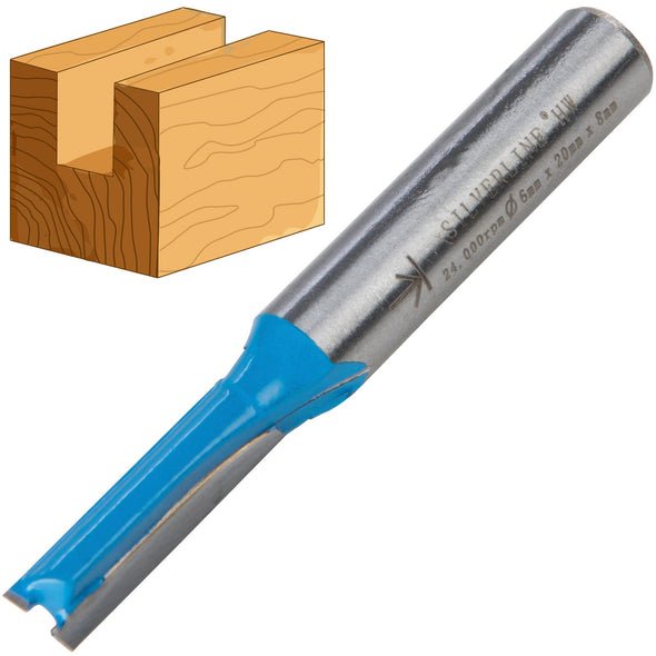 Silverline 8mm Shank Straight Metric Router Bits Cutters
