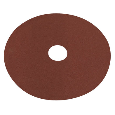 Worksafe by Sealey Fibre Backed Disc Ø125mm - 100Grit Pack of 25