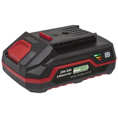 Sealey Power Tool Battery 20V 2Ah Lithium-ion for Sealey Cordless CP20V Series Tools