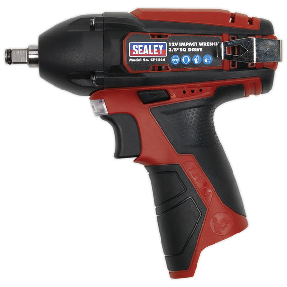 "Sealey 12V Cordless 3/8"" Drive Impact Wrench 80Nm Body Only  LED Indicator"