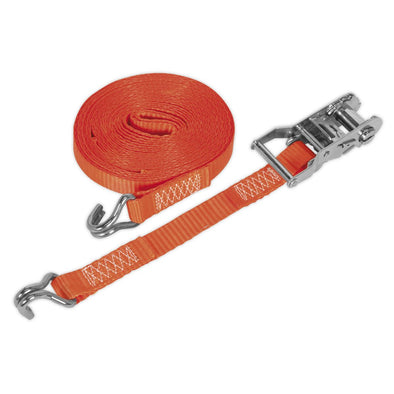 Sealey Ratchet Tie Down 25mm x 6m Polyester Webbing 1500kg Load Test