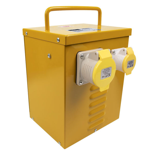 Worksafe by Sealey 5kVA Portable Vented Transformer 16/32A Outlets
