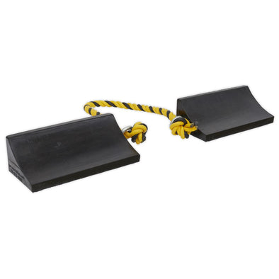 Sealey Rubber Wheel Chocks Heavy-Duty - Pair