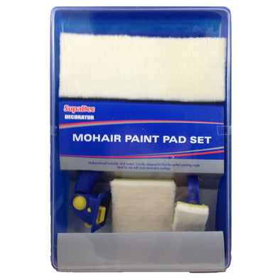 SupaDec Decorator Mohair Paint Pad Set with Pads and Tray