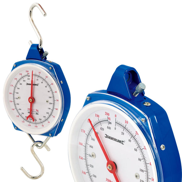 Silverline Hanging Scales Heavy Duty 200kg Metric and Imperial Rigid Hook Fishing