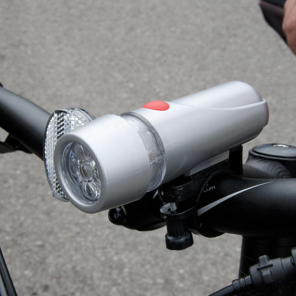 Silverline 2 Piece 5 LED Cycle Lights Bicycle Multi-Function White Red