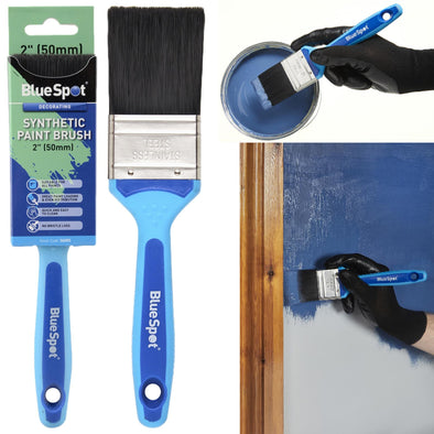 "BlueSpot Synthetic Paint Brush with Soft Grip Handle 50mm (2"")"