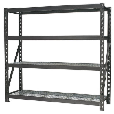 Sealey Heavy-Duty Racking Unit with 4 Mesh Shelves 640kg Capacity Per Level 1956mm