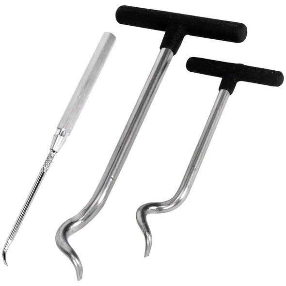 Sealey 3 Piece T-Handle Seal Puller O-Ring Removal Set Oil Grease Garage