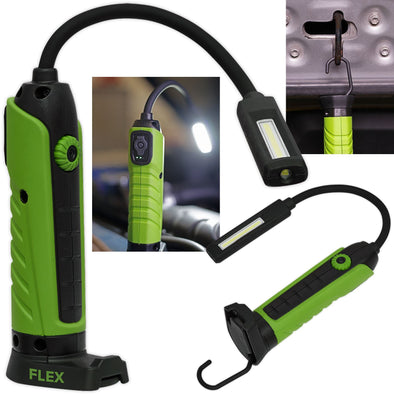 Sealey Flexi COB LED Rechargeable Inspection Lamp Magnetic Base 500 Lumens