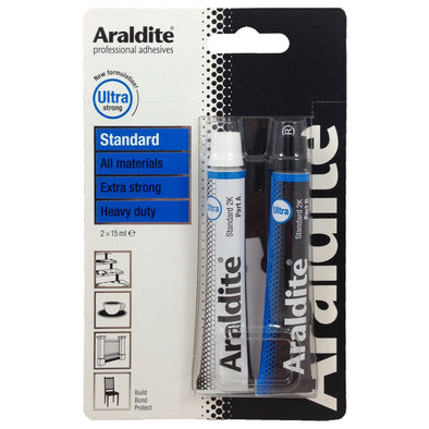 Araldite 2 x 15ml Standard Ultra Strong Epoxy 2 Part Glue