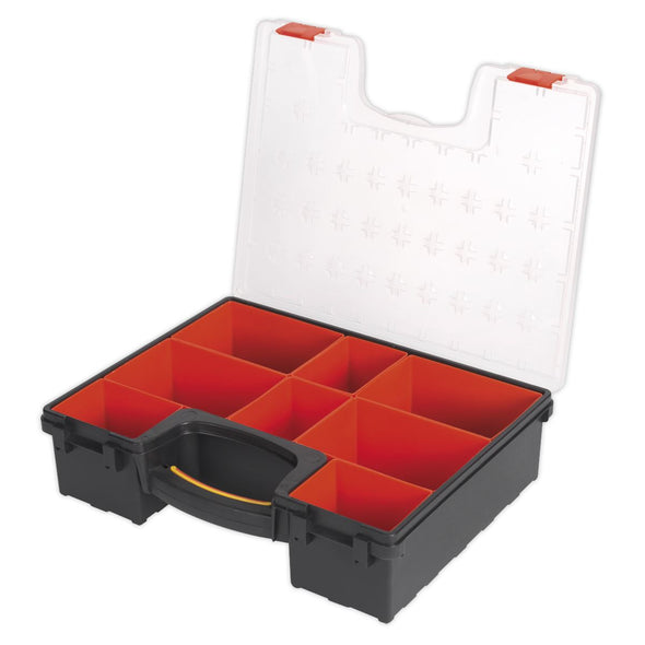 Sealey Parts Storage Case Organiser with 8 Removable Compartments Tool Screw Box