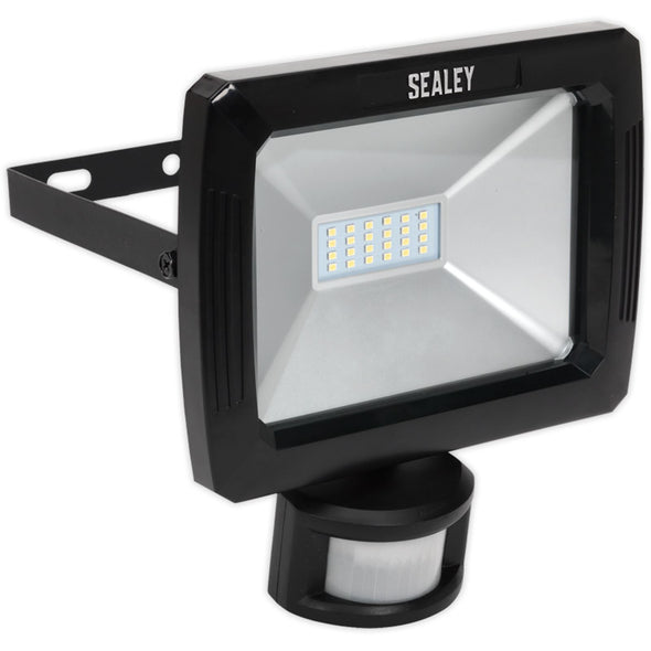 Sealey 20W SMD LED Floodlight, Wall Bracket and PIR Motion Sensor 1600 Lumens