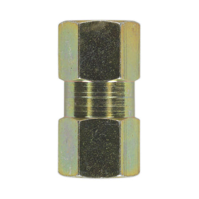 Sealey Brake Tube Connector M10 x 1mm Female to Female Pack of 10
