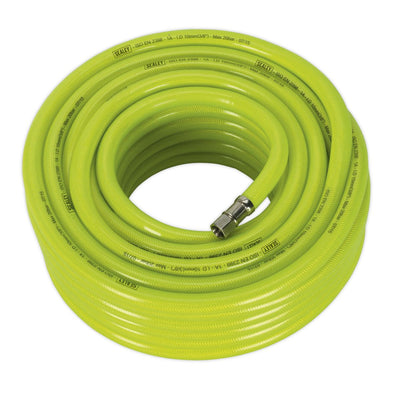 "Sealey Air Hose High Visibility 20m x Ø10mm with 1/4""BSP Unions"