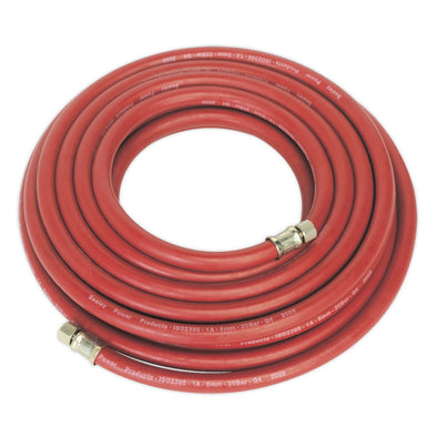 "Sealey Air Hose 10m x Ø8mm with 1/4""BSP Unions"